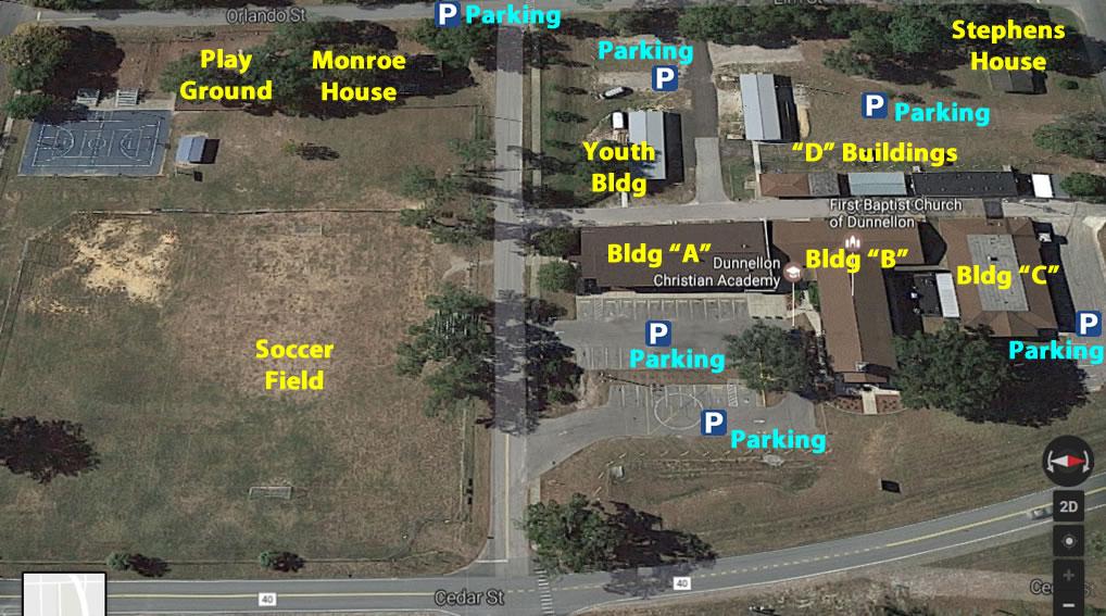 Aerial view FBC Dunnellon campus