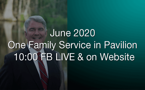 June 2020 one service in pavilion FBC