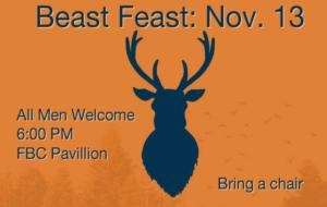 FBC Men's Beast Feast Nov. 13, 2020