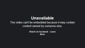 FB Video Not Available